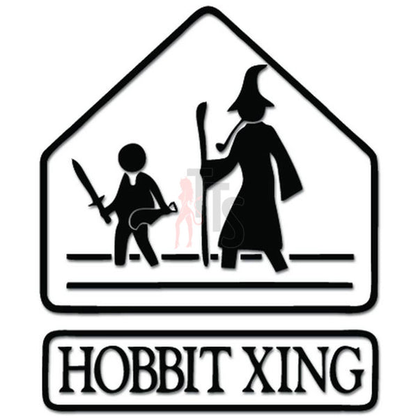 Hobbit Xing Crossing Gandalf LOTR Decal Sticker