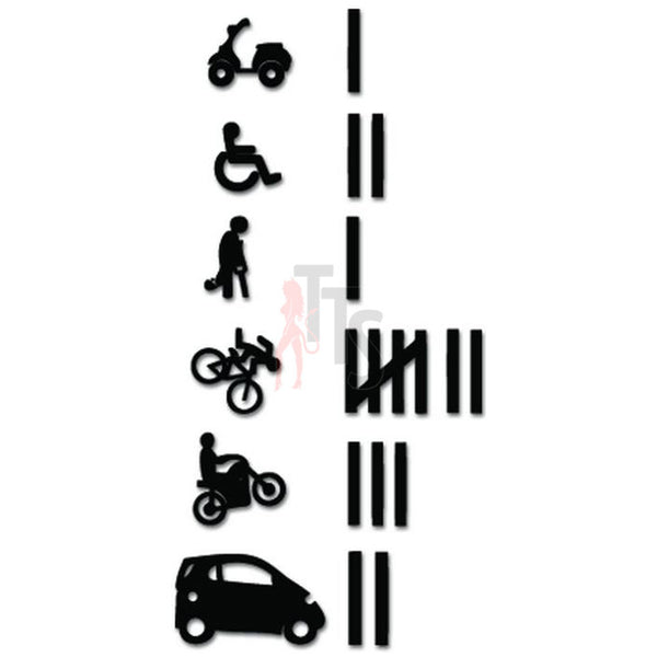 Keeping Score Tally Marks Accident JDM Japanese Decal Sticker