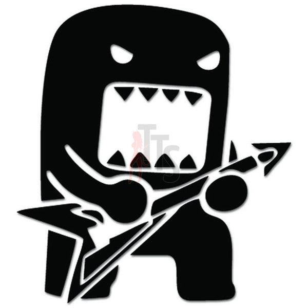 Domo Kun Rock Guitar JDM Japanese Decal Sticker