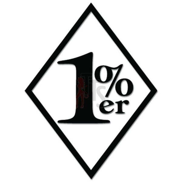1% er 1 Percenter Biker Motorcycle Decal Sticker