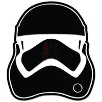 Stormtrooper Helmet Mask Decal Sticker Style 3