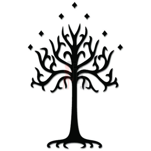 White Tree Gondor LOTR Decal Sticker