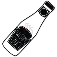 Awesome Sauce Bottle Decal Sticker