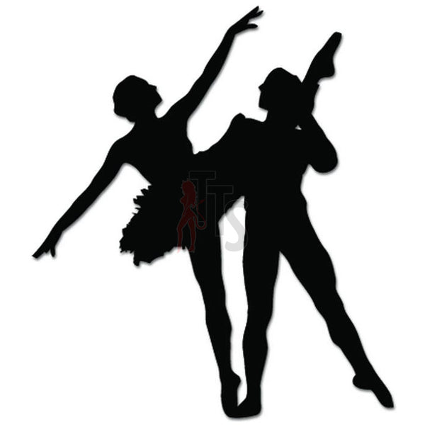 Ballet Couple Dance Dancing Theatre Decal Sticker Style 2