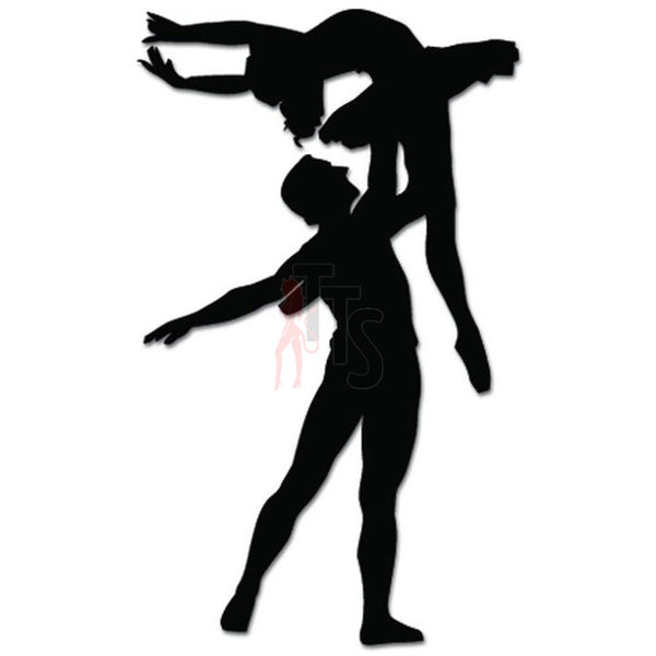 Ballet Couple Dance Dancing Theatre Decal Sticker Style 3