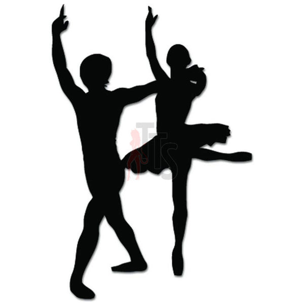 Ballet Couple Dance Dancing Theatre Decal Sticker Style 4