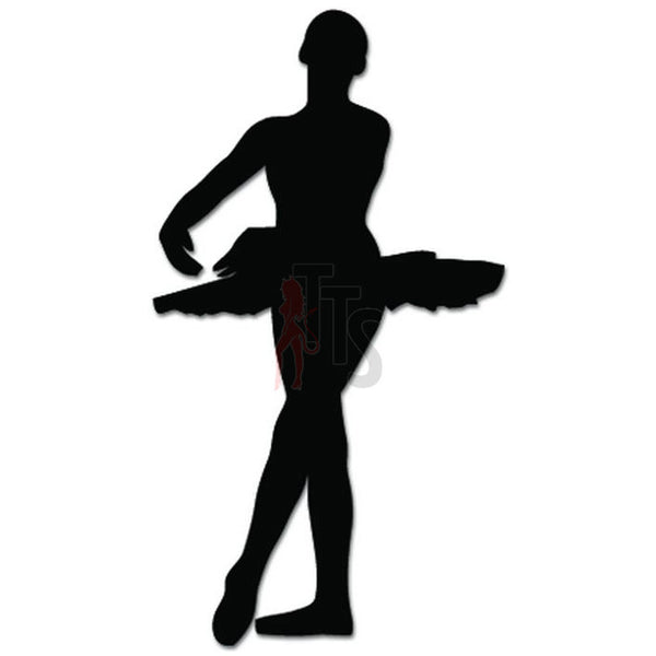 Girl Women Ballet Dancer Dance Movements Decal Sticker Style 2