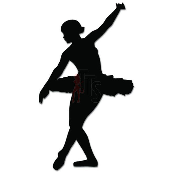 Girl Women Ballet Dancer Dance Movements Decal Sticker Style 3