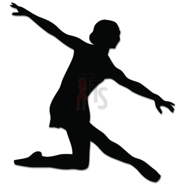 Girl Women Ballet Dancer Dance Movements Decal Sticker Style 4