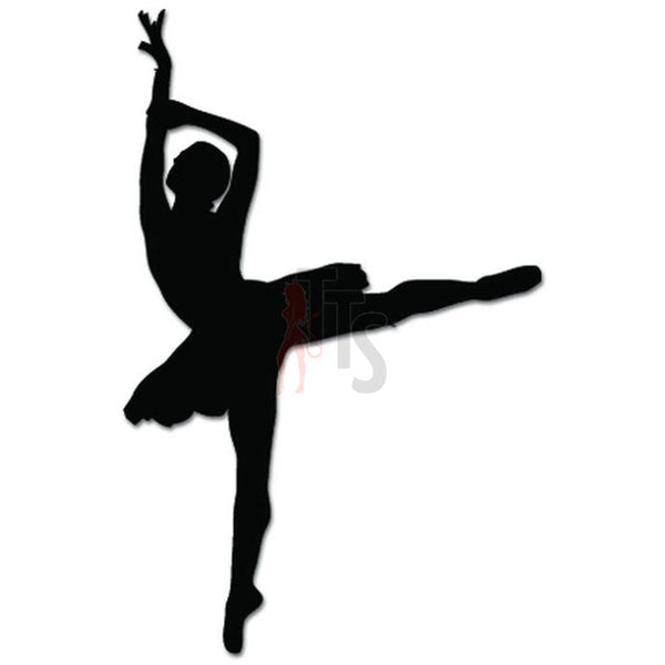 Girl Women Ballet Dancer Dance Movements Decal Sticker Style 5