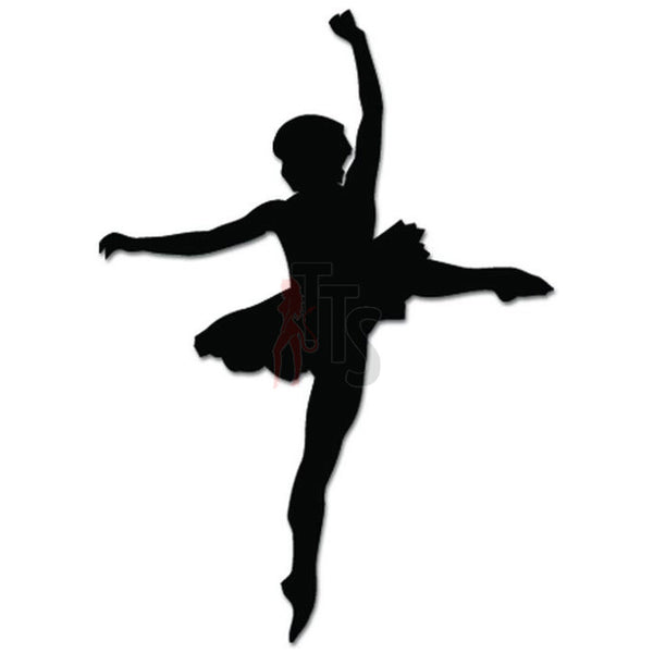 Girl Women Ballet Dancer Dance Movements Decal Sticker Style 6