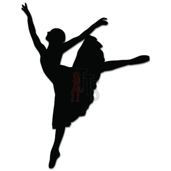 Girl Women Ballet Dancer Dance Movements Decal Sticker Style 7