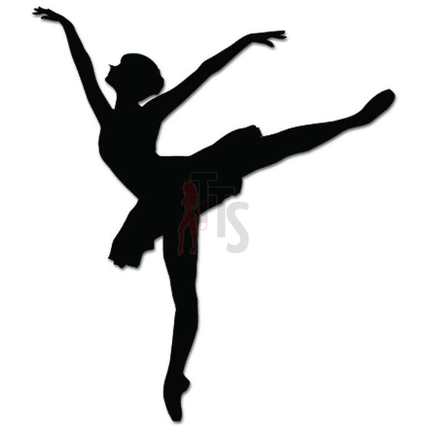 Girl Women Ballet Dancer Dance Movements Decal Sticker Style 8