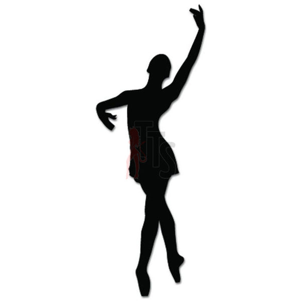 Girl Women Ballet Dancer Dance Movements Decal Sticker Style 9