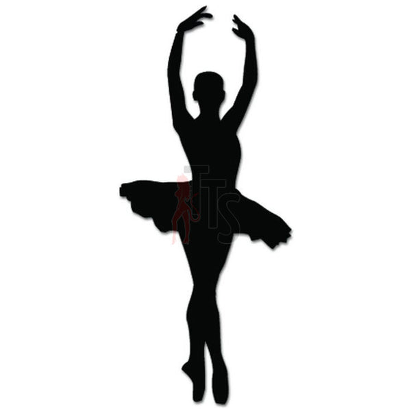 Girl Women Ballet Dancer Dance Movements Decal Sticker Style 10