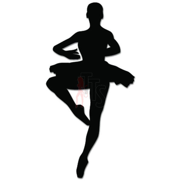 Girl Women Ballet Dancer Dance Movements Decal Sticker Style 11