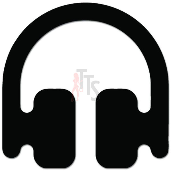 DJ Headphones Music Concert Minimal Decal Sticker