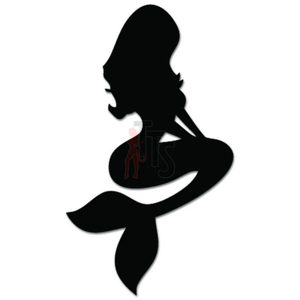 Sexy Mermaid Fish Girl Decal Sticker
