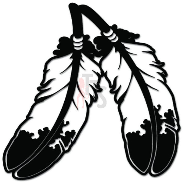 Native American Indian Feathers Decal Sticker
