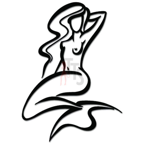 Sexy Nude Mermaid Fish Decal Sticker