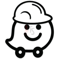Waze Hardhat Cone GPS Navigation Decal Sticker Style 3