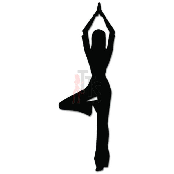 Sexy Girl Yoga Pose Om Aum Namaste Decal Sticker Style 1