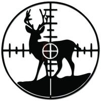 Deer Buck Crosshair Scope Hunting Decal Sticker