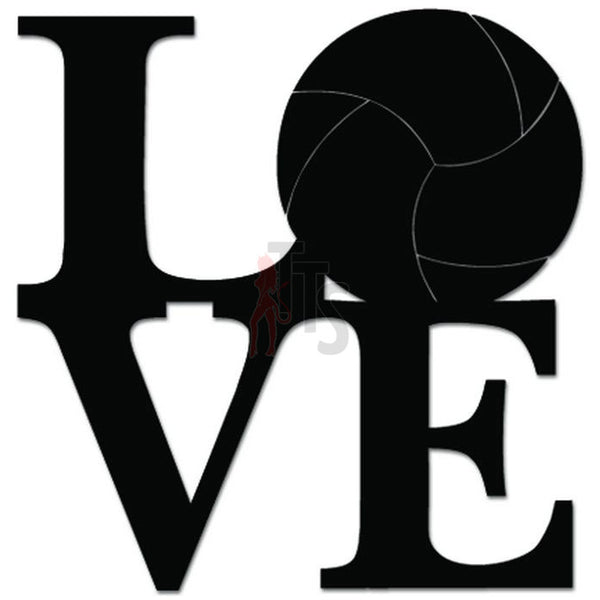 Love Volleyball Sports Decal Sticker