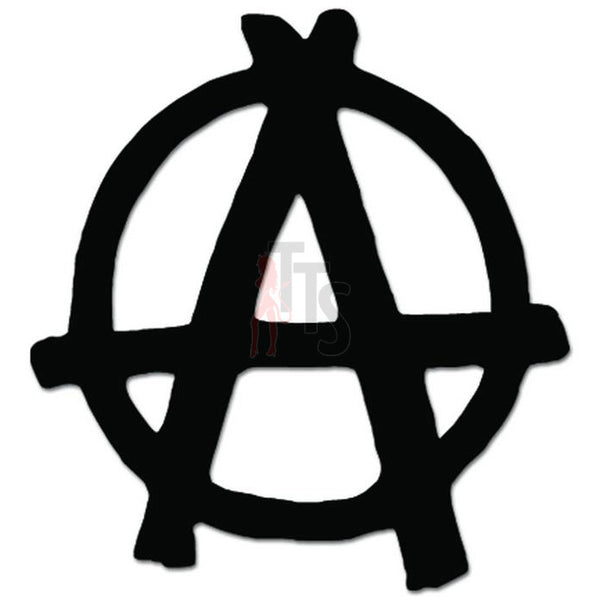 Anarcy Symbol Anarchist Decal Sticker
