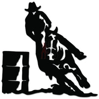 Cowboy Barrel Racing Rodeo Horse Decal Sticker