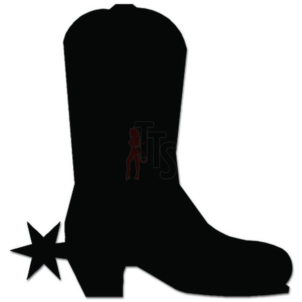Cowboy Booth Shoes Spur Decal Sticker