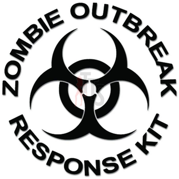 Zombie Outbreak Response Kit Biohazard Decal Sticker