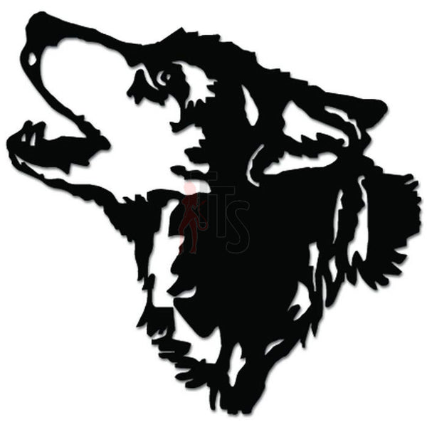 Wolf Head Howling Animal Pack Wildlife Decal Sticker