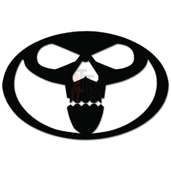 Death Skull Head Oval JDM Japanese Decal Sticker