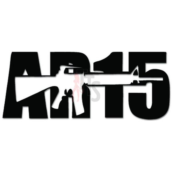 AR-15 Assault Rifle Gun Decal Sticker Style 3