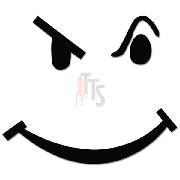 Smiley Frown Face Smirk JDM Japanese Decal Sticker