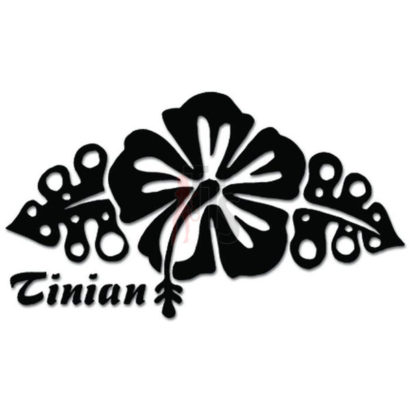 Tinian Mariana Islands Hibiscus FLower Decal Sticker