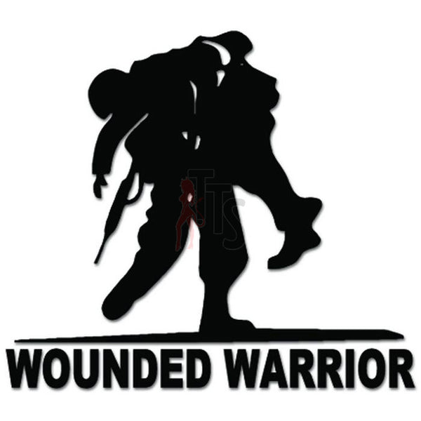 Wounded Warrior Soldiers Army Decal Sticker