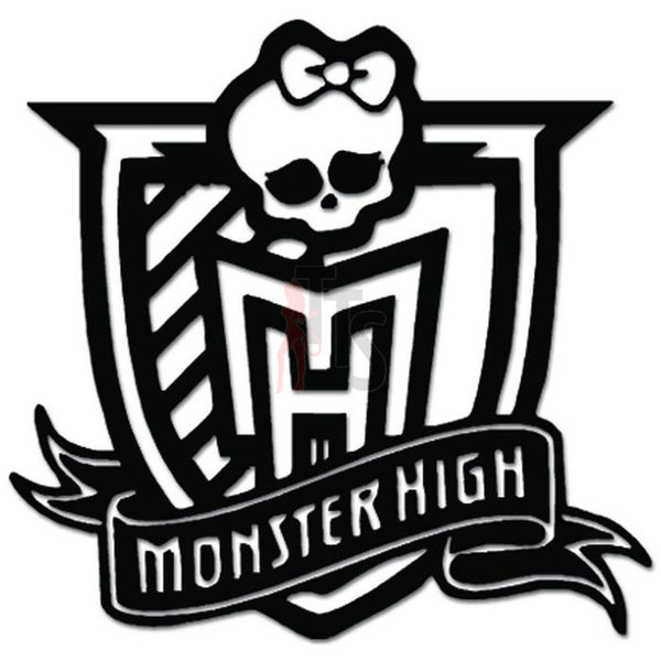 Monster High School Death Skull Bowtie Decal Sticker
