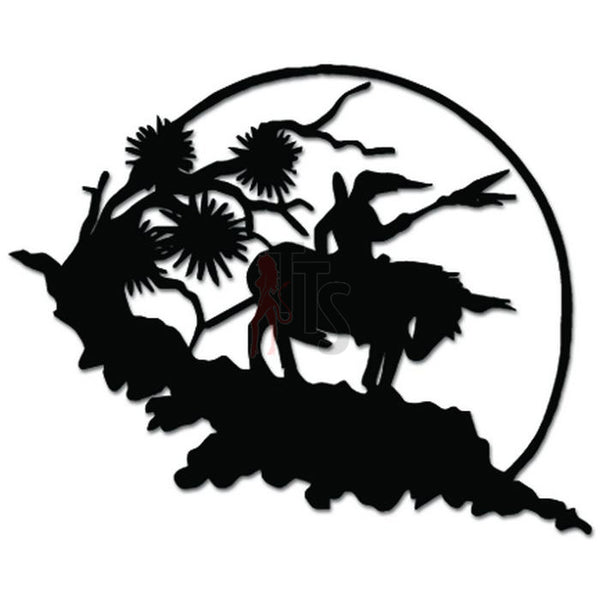 Native Indian Horse End of Trail Decal Sticker