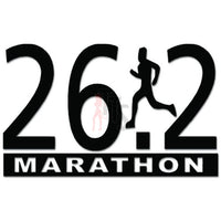 26.2 Marathon Runner Running Decal Sticker