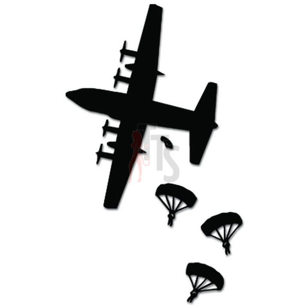 USMC Jump Airborne Army Parachuting Decal Sticker