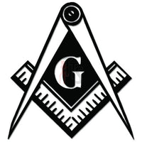 Masonic Tools Compass Square Decal Sticker