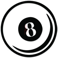 8 Eight Ball Pool Billiard Decal Sticker