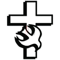 Dove Cross Peace Christians Decal Sticker