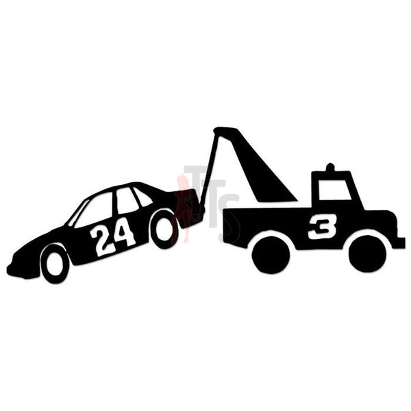 Nascar Number 3 Truck Towing Number 24