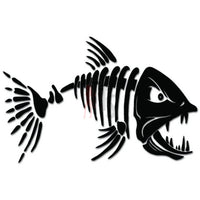 Fish Bones Fishing Decal Sticker