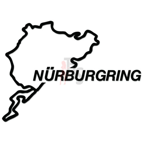 Nurburgring Race Track Germany Decal Sticker Style 1