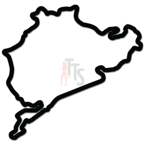 Nurburgring Race Track Germany Decal Sticker Style 2