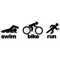 Triathlete Triathlon Ironman Sports Decal Sticker Style 1